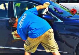 100% hand car wash at Executive