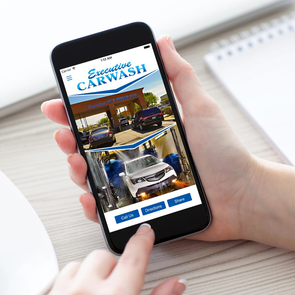 Download the Executive Car Wash Loyalty App